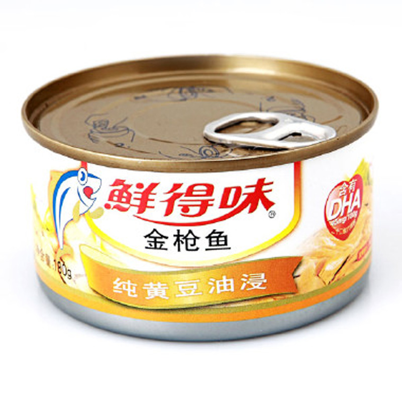 【天猫超市】泰国进口鲜得味金**鱼罐头纯黄豆油浸180g  满减秒杀