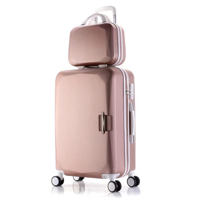 行李箱子母小清新旅行拉杆箱万向轮20寸韩版女26学生24密码皮箱包