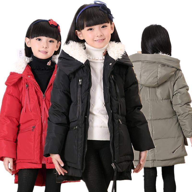 包邮 女童羽绒服中大童儿童羽绒服女款中长款冬装潮童韩版加厚
