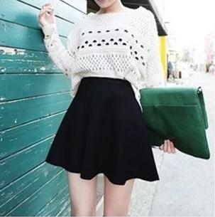 【今日特卖】太阳裙冬款裙高腰半身裙毛呢裙伞裙短裙加厚蓬蓬裙