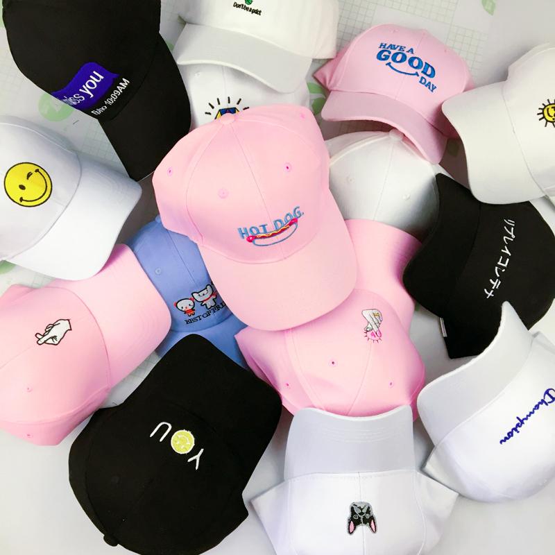 棒球帽韩国潮韩版嘻哈子女刺绣休闲鸭舌帽