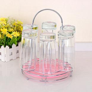 玻璃杯水杯架子厨房客厅茶杯沥水架家用置物杯架倒挂晾水杯收纳架