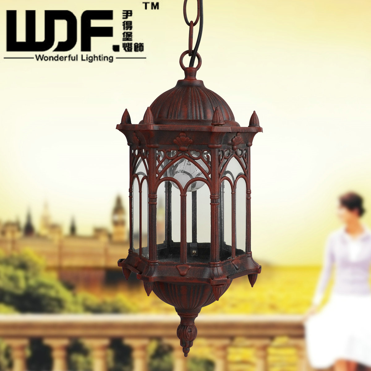欧式户外吊灯 花园别墅吊灯阳台吊灯过道吊灯