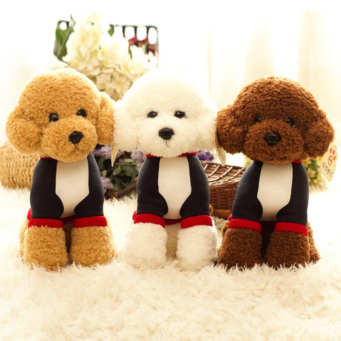 发声会叫泰迪狗毛绒玩具可爱仿真狗狗公仔比熊玩偶