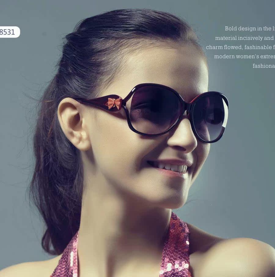 正品凯莎 蝴蝶结女士太阳镜 韩国明星爆款遮阳镜墨镜K8531