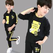 童装男童秋装2017新款套装中大童三件套春秋季男孩儿童运动衣服a