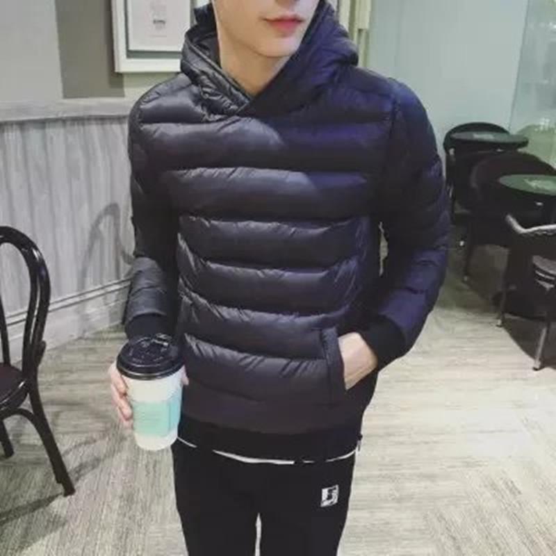 男士青少年轻薄秋冬羽绒服外套男装修身