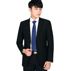 花花公子西服套装男青年上班休闲夏季职业西装男修身四季韩版帅气