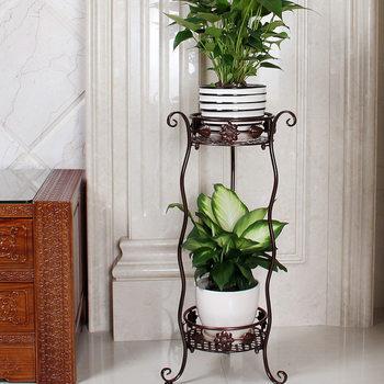 欧式铁艺花架多层绿萝阳台花盆架客厅室内落地吊兰花