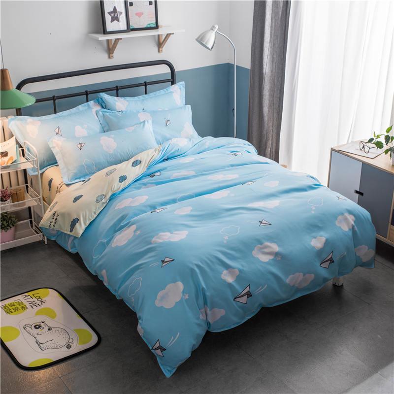 三件套宿舍單人被套學生四件套被單床單床上用品