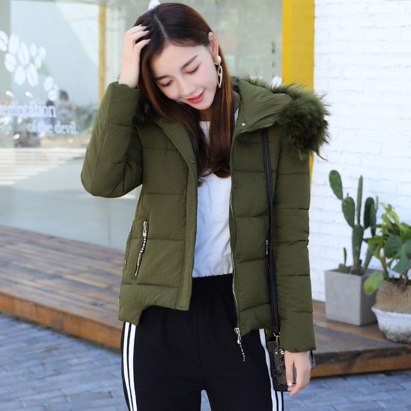 反季促销冬装棉衣女短款韩版毛领可爱学生冬季外套羽绒棉服小棉袄