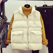 棉服马甲韩版 羽绒棉衣外套 秋冬季女士加厚棉坎肩短款 天天特价