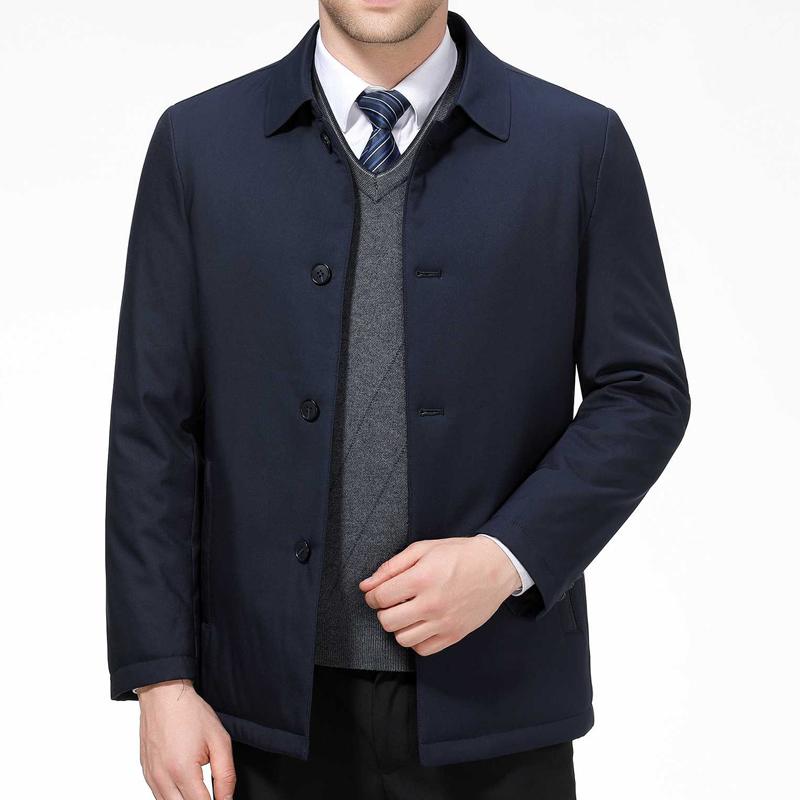 馬克勁霸高檔男裝中年品牌棉衣男士商務休閑正裝冬季加大碼棉服圖片