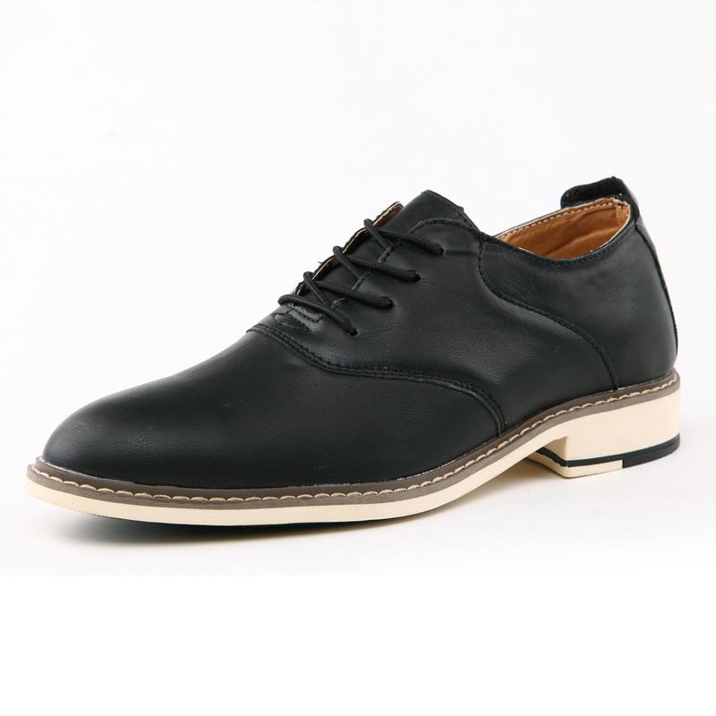 春季英伦风休闲皮鞋正装男鞋子商务尖头流行男士增高透气青年潮鞋