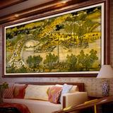 清明上河图十字绣全景线绣2017新款客厅山水画2米3m大幅印花风景