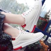 2017秋天新款百搭街拍小白鞋女基础学生厚底白鞋子韩版秋季板鞋潮
