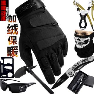 全指战术手套秋冬保暖男士登山健身骑行摩托车装备运动特种兵防割
