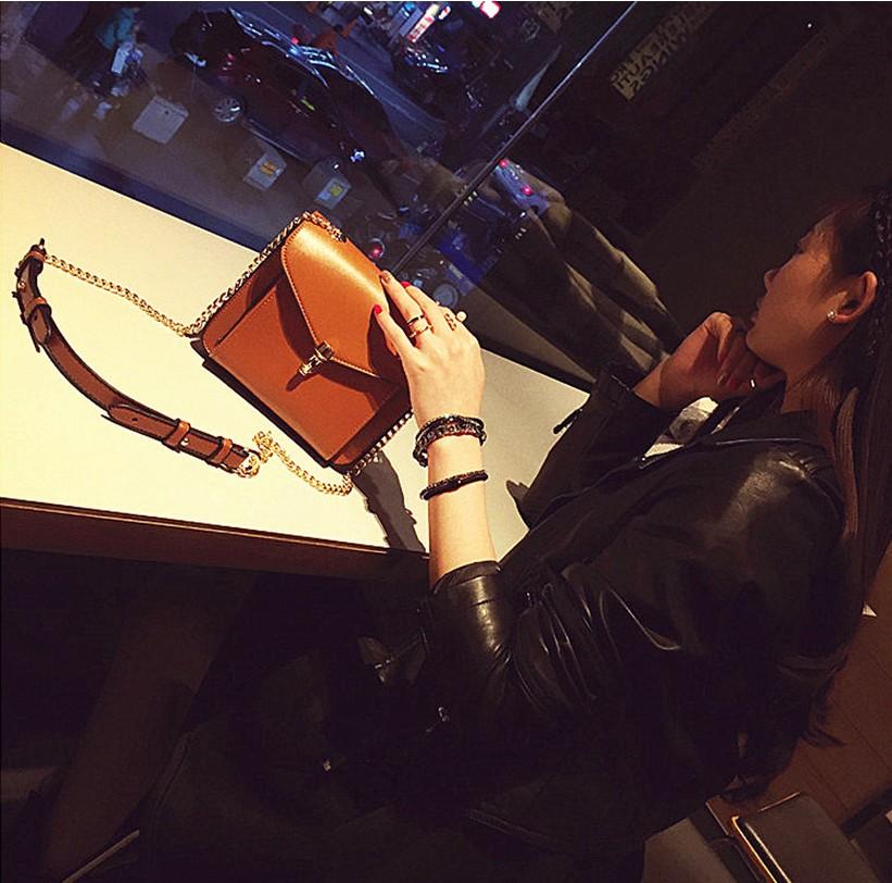 【新款】韩国小包包斜挎包链条包牛皮女包