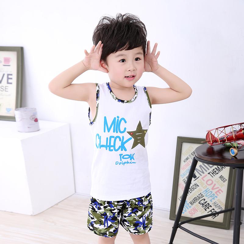 【包邮】新款儿童背心套装