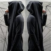 夏季暗黑系男装风衣男士中长款连帽开衫巫师斗篷披风薄款无袖外套