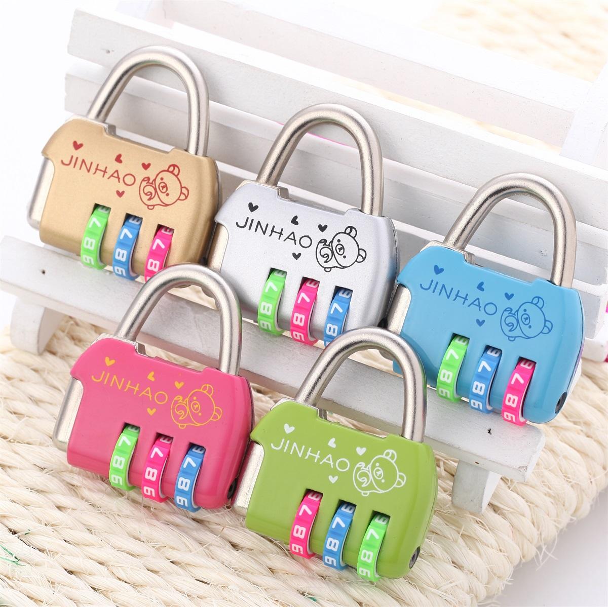 小可爱密码锁文具箱包日记本书柜书包旅行包小号密码
