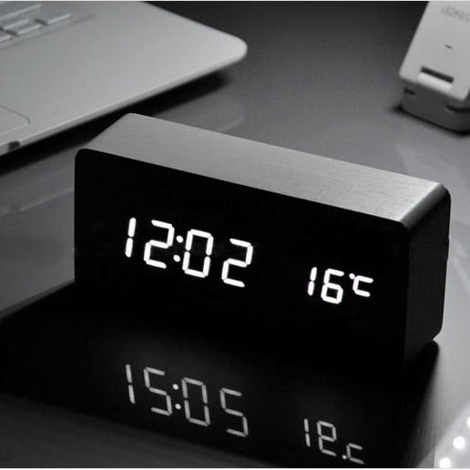 质led懒人静音智能电子钟
