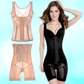 加强版 产后塑身衣夏季超薄收腹美体束腰瘦身内衣分体排扣套装