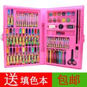 86件儿童绘画套装美术水彩笔套装礼盒画画笔蜡笔小学生礼物用品