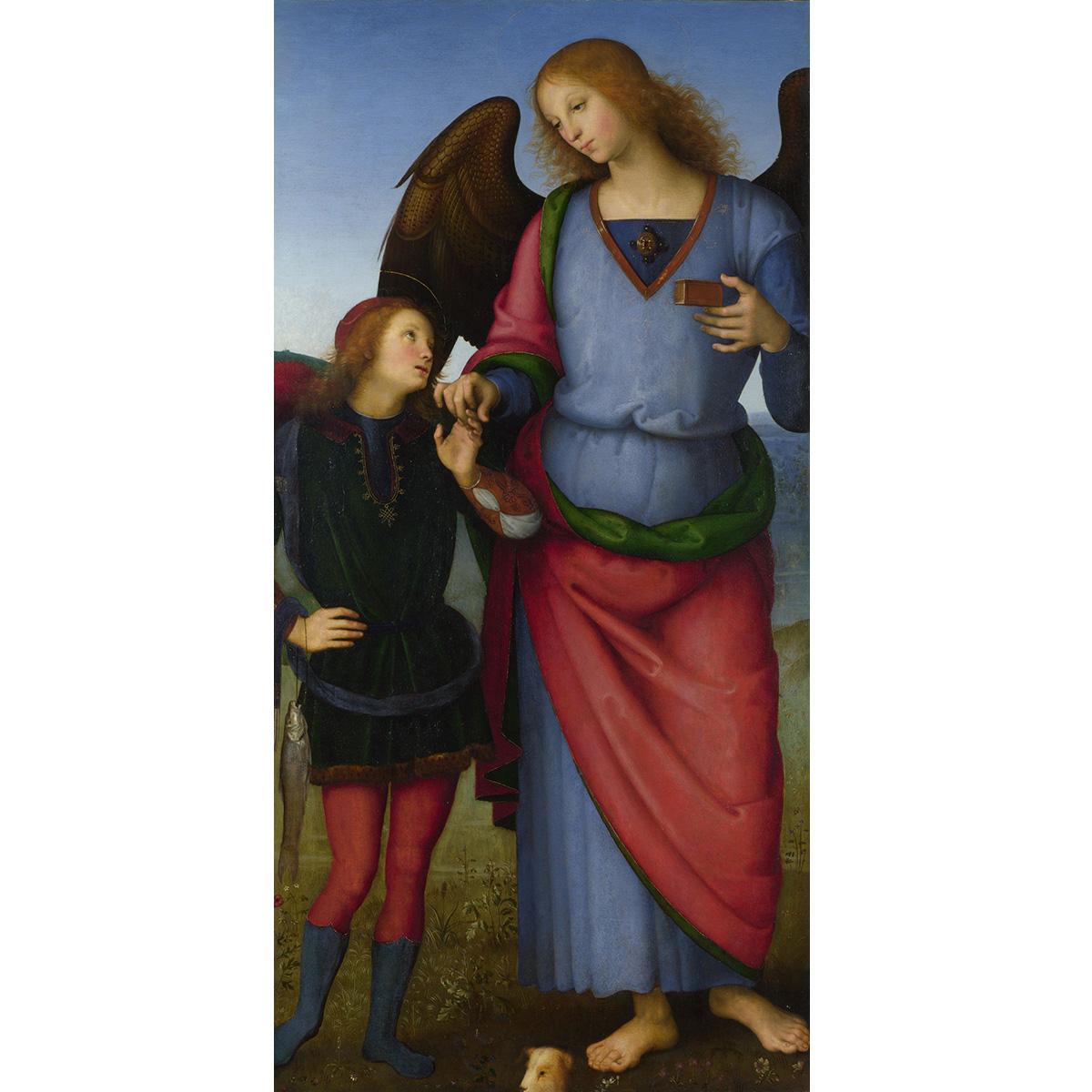 大天使拉斐尔与托比亚斯 人物油画 装饰画 居家室内咖啡厅66-134