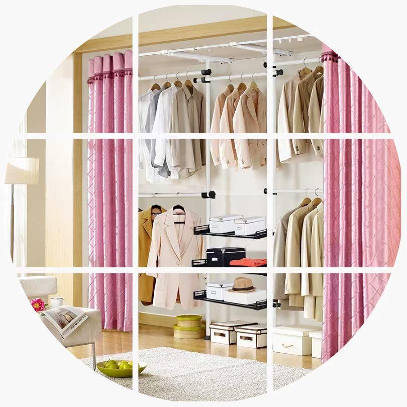 简易衣柜钢架韩式家具组合折叠衣橱衣服卧室储物衣帽间收纳布艺