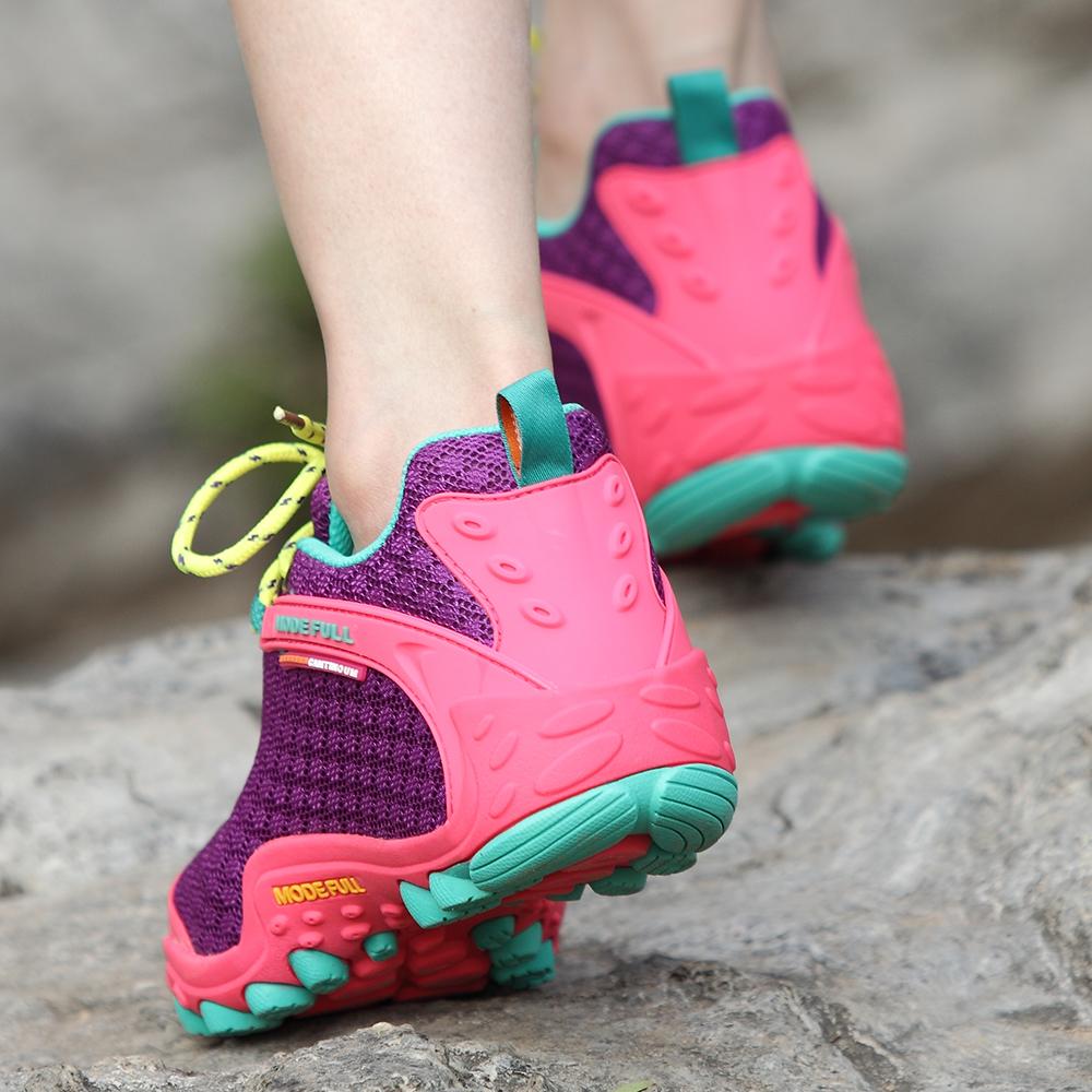 登山鞋防水徒步户外跑步透气情侣防滑运动鞋男女夏季