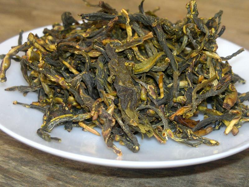 黄大茶 包邮 500g 农家柴火手工炒茶茶芽 广东大叶青黄茶特级茶芽