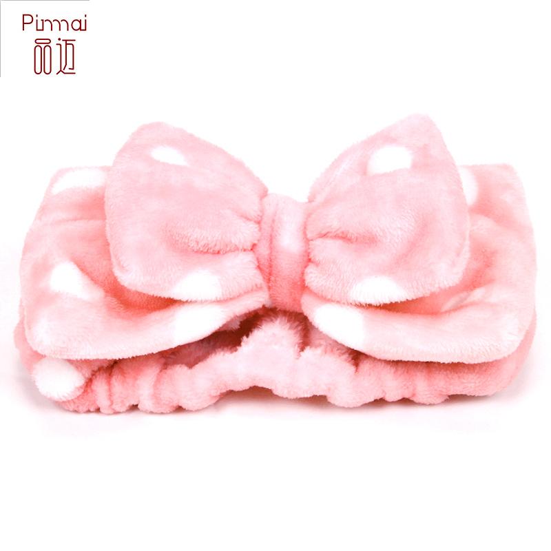 可爱小清新蝴蝶结洗脸束发带化妆运动洗澡面膜发箍发