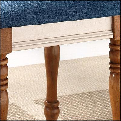 欧式简约梳妆凳美式乡村换鞋凳全实木地中海矮凳钢琴