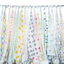 纯棉双层纱布宝宝卡通布料婴儿衣服尿布布料全棉口水巾纱布面料