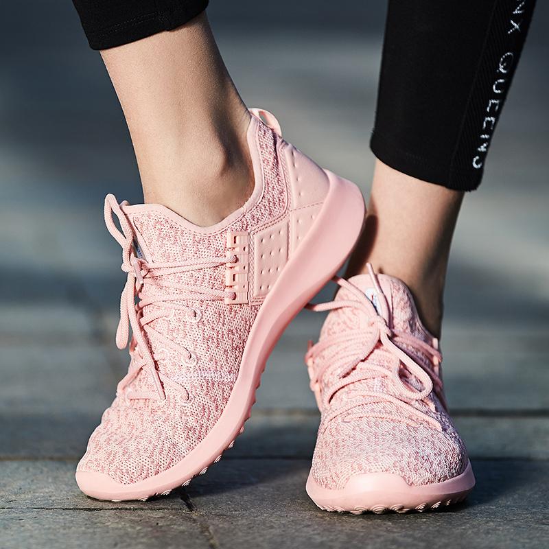 Sprandi斯潘迪女鞋秋季运动鞋透气飞织网面轻便休闲鞋学生健步鞋