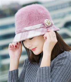 女士帽子秋冬天韩版兔毛帽贝雷帽保暖针织毛线帽冬季盆帽渔夫帽潮