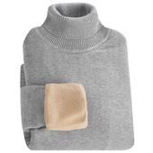 保暖打底衫 韩版 冬季高领毛衣黑色修身 加绒加厚针织衫 线衣毛衫 男士