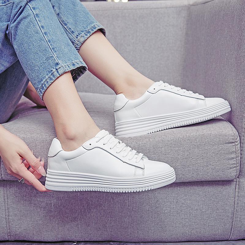 2017夏款飞駝女鞋新款厚底休闲鞋 时尚潮流板鞋 韩版内增高女鞋