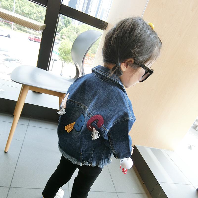 上衣开衫宝宝女童春秋儿童牛仔春装外套