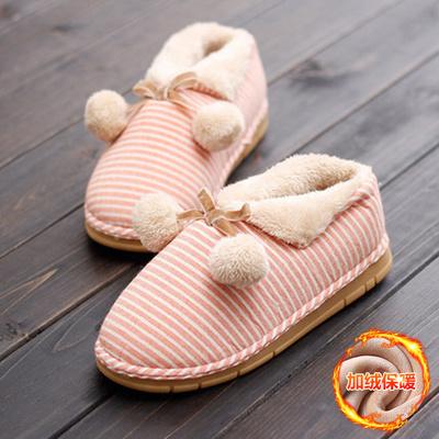棉拖鞋包跟韩版冬季情侣男女防滑厚底居家室内可爱保暖软底月子鞋