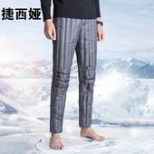 羽绒裤男内穿冬季修身中老年白鸭绒内胆大码加厚保暖高腰羽绒棉裤