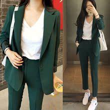 服外套哈伦九分长裤 两件套女潮 套装 休闲显瘦小西装 016东大门韩版