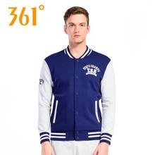 361度外套男春秋新款学生韩版潮运动休闲卫衣棒球服立领开衫正品