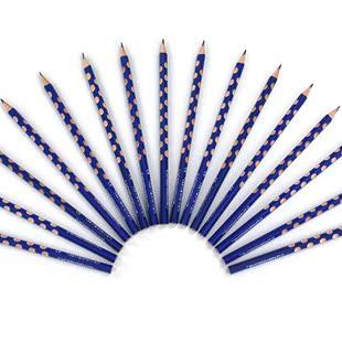 握姿定位洞洞铅笔小学生三棱型细杆笔12支盒装HB无毒铅笔