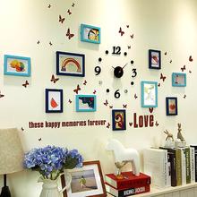 云卉简约现代照片墙 相框 墙 创意挂墙7寸10寸相架画框相片墙组合