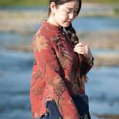 【今朝风日好】陌上花开原创~极美提花绢纺真丝香云纱小上衣