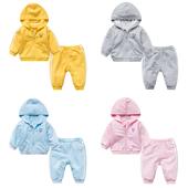 婴儿童装套装春秋女宝宝春季0岁8个月春装男童潮款休闲长袖婴幼儿