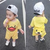 婴儿连体衣服薄款可爱休闲短袖套装男女宝宝新生儿夏季0岁5个月