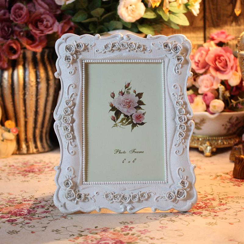 树脂白色长方形欧式相框6寸7寸10寸12寸组合像框摆台